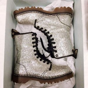 ISO NOT for sale Dr. Martens glitter/silver boots